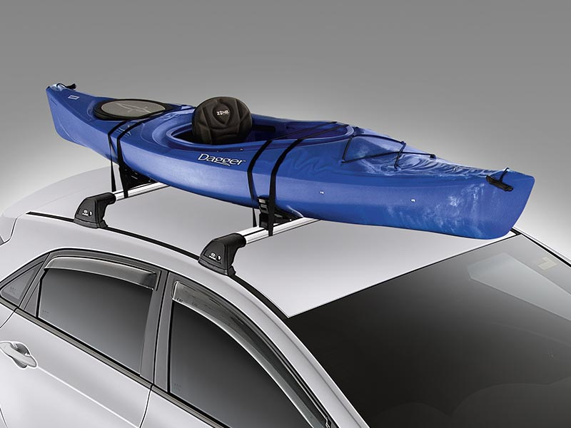 Roof mounted kayak holder