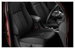 D-MAX Leather accented seats