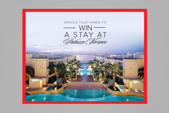 Service Your Honda to WIN a stay at Palazzo Versace