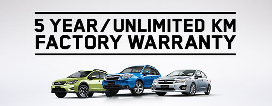5 Year/Unlimited Km Factory Warranty