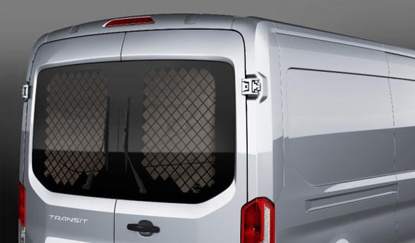 Rear window grilles