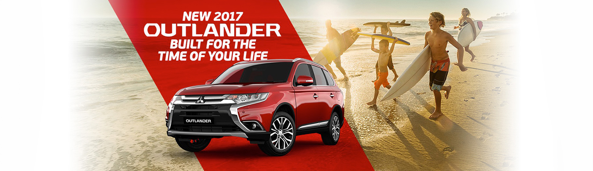 New 2017 Mitsubishi Outlander, built for the time of your life. Available at Nundah Mitsubishi, Brisbane.