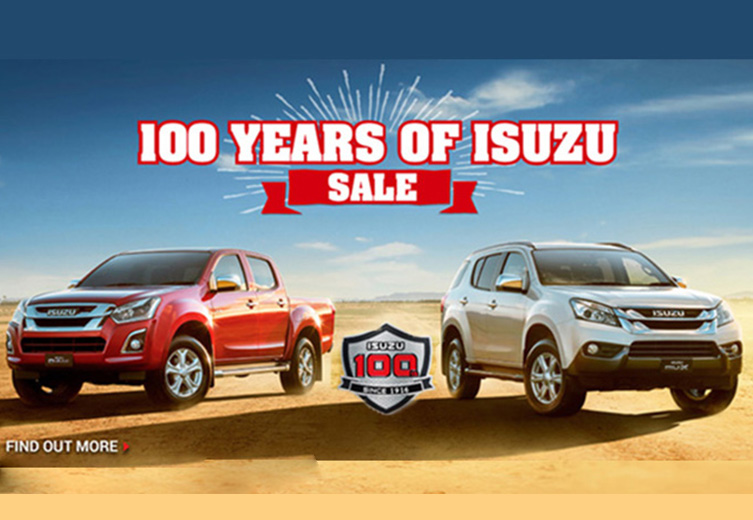 100 years of Isuzu sale, get a great deal on a D-MAX or MU-X at Nundah Isuzu UTE.
