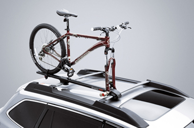 """<img src=""""Fork Mount Bike Carrier - Upright"""