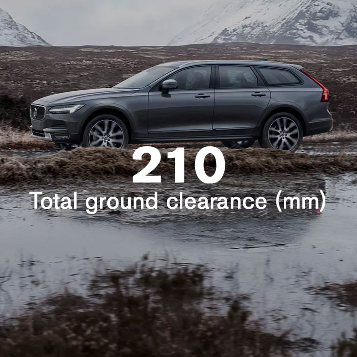 V90 Cross Country Riding high