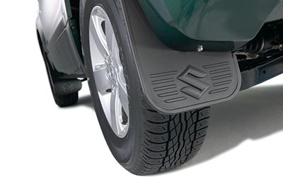 Flexible mud flaps