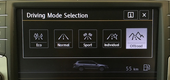 Passat Alltrack Driving Profile Selection
