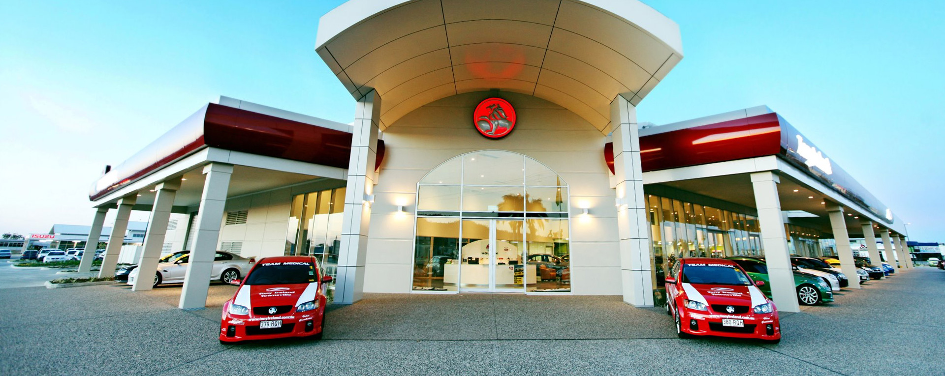 Tony Ireland Holden state-of-the-art showroom