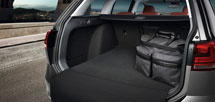 Luggage compartment reversible mat with flap