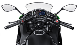 2017 Ninja 650L KRT Edition Relaxed, Sporty Ergonomics