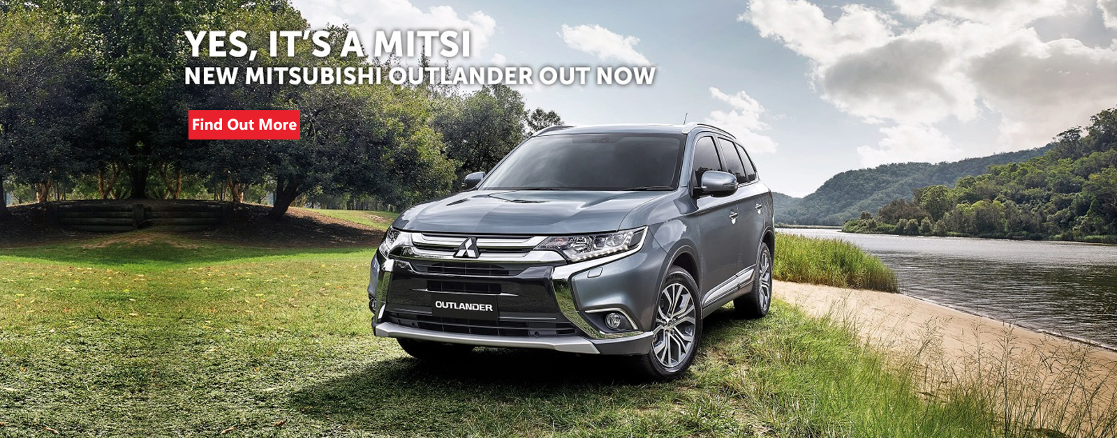 Yes, it's a Mitsi! New Mitsubishi Outlander out now and available at Redcliffe Mitsubishi Brisbane.