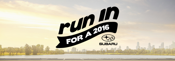 Run in for a 2016 Subaru