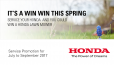 SERVICE YOUR HONDA FOR A CHANCE TO WIN