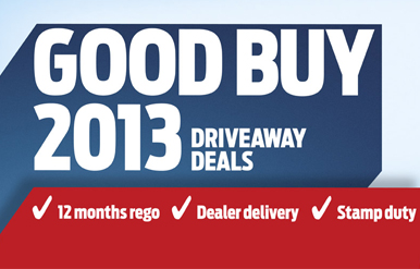 Good Buy 2013 Driveaway Deals