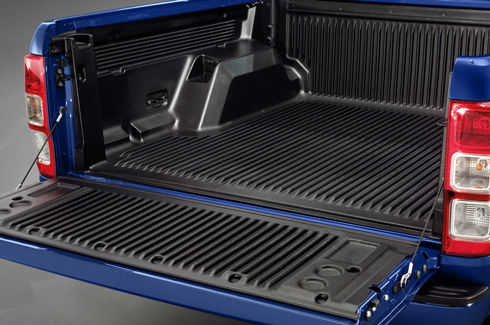 """<img src=""""Bed and Tailgate Liner - Under Rail - with load rest"""