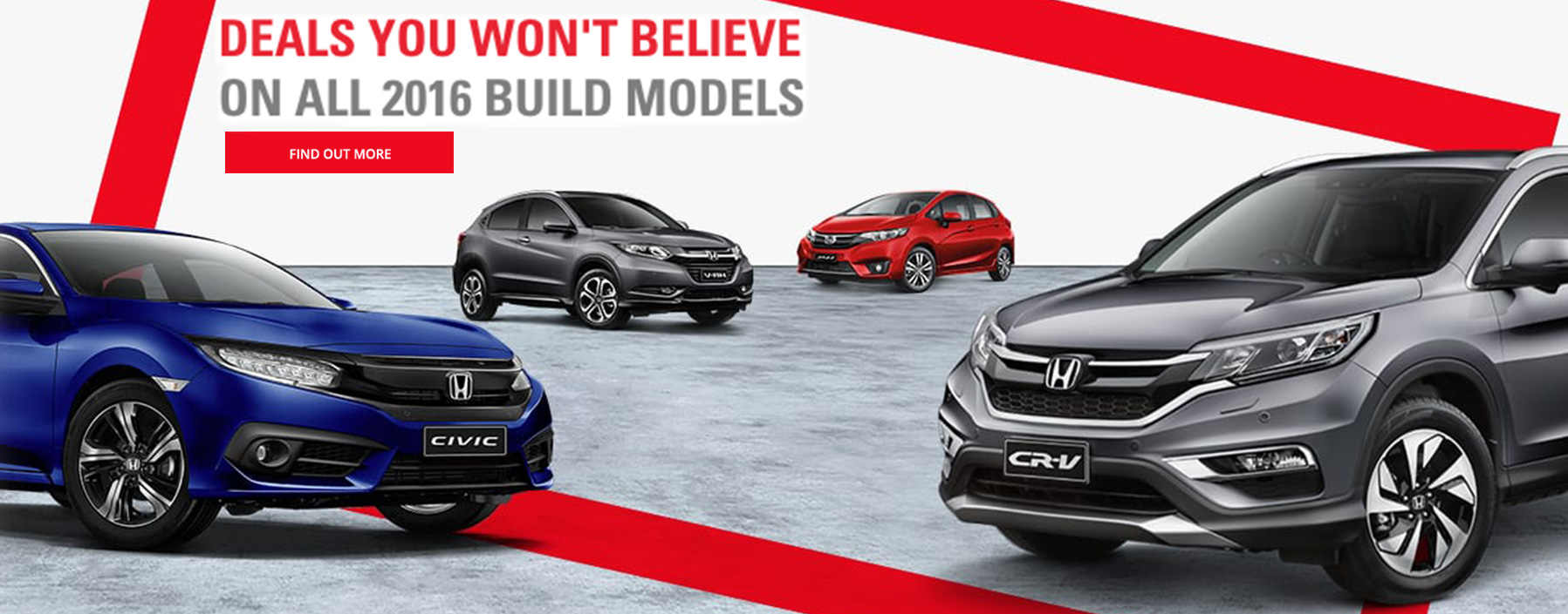Deals you won't believe on all 2016 Build Honda's at Northside Honda Brisbane.