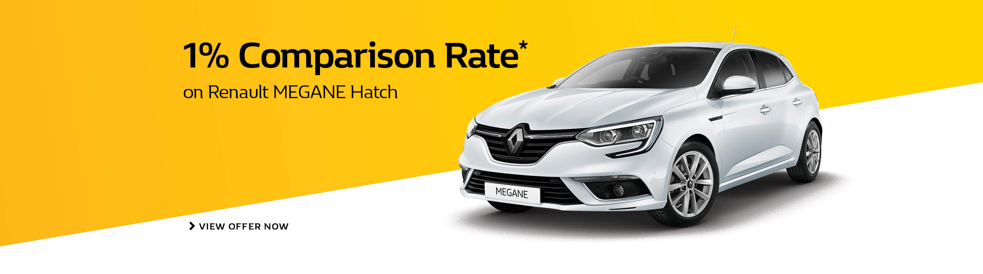 Get 1% comparison rate on Renault Megane hatch at Metro Renault. Conditions apply.