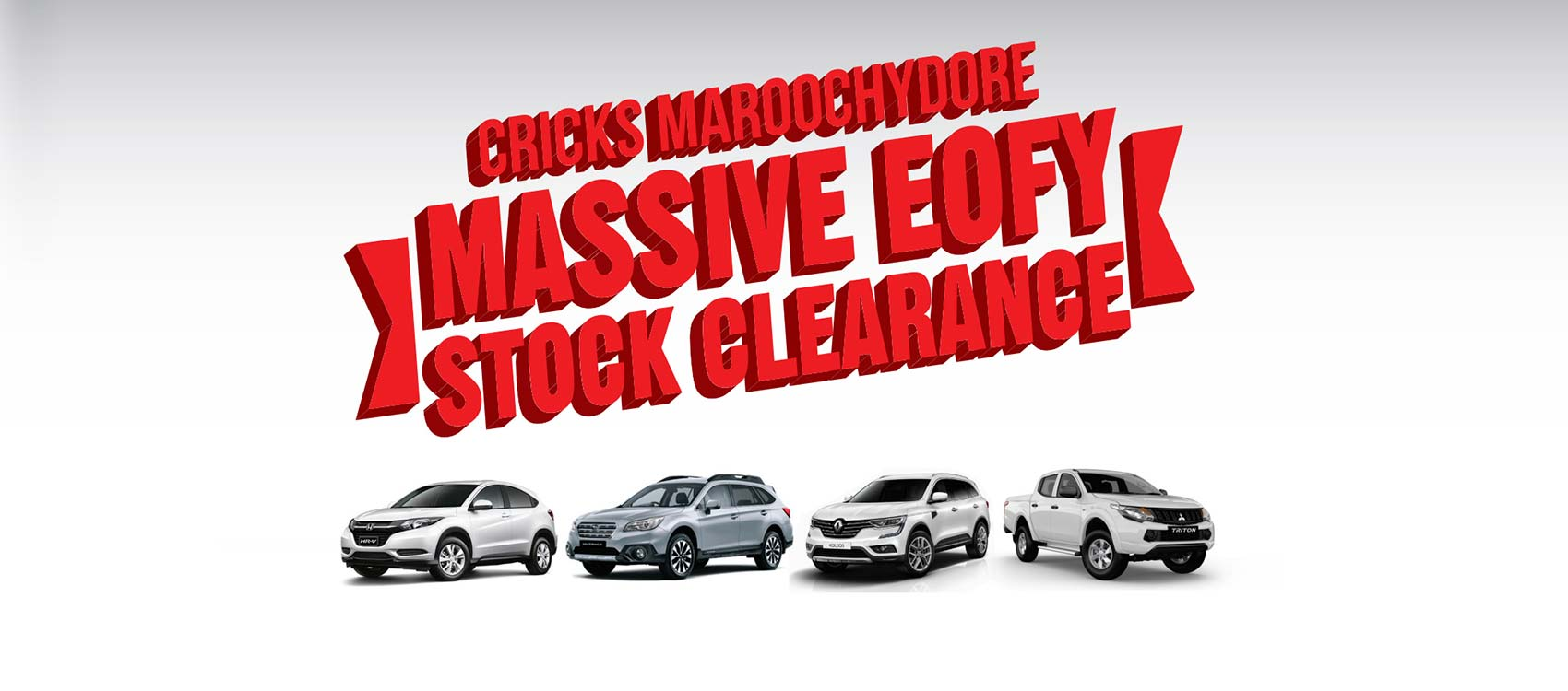 Cricks Maroochydore Massive EOFY Stock Clearance