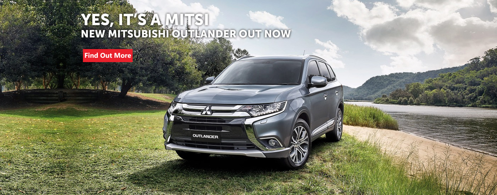 Yes, it's a Mitsi! New Mitsubishi Outlander out now and available at Nundah Mitsubishi Brisbane.