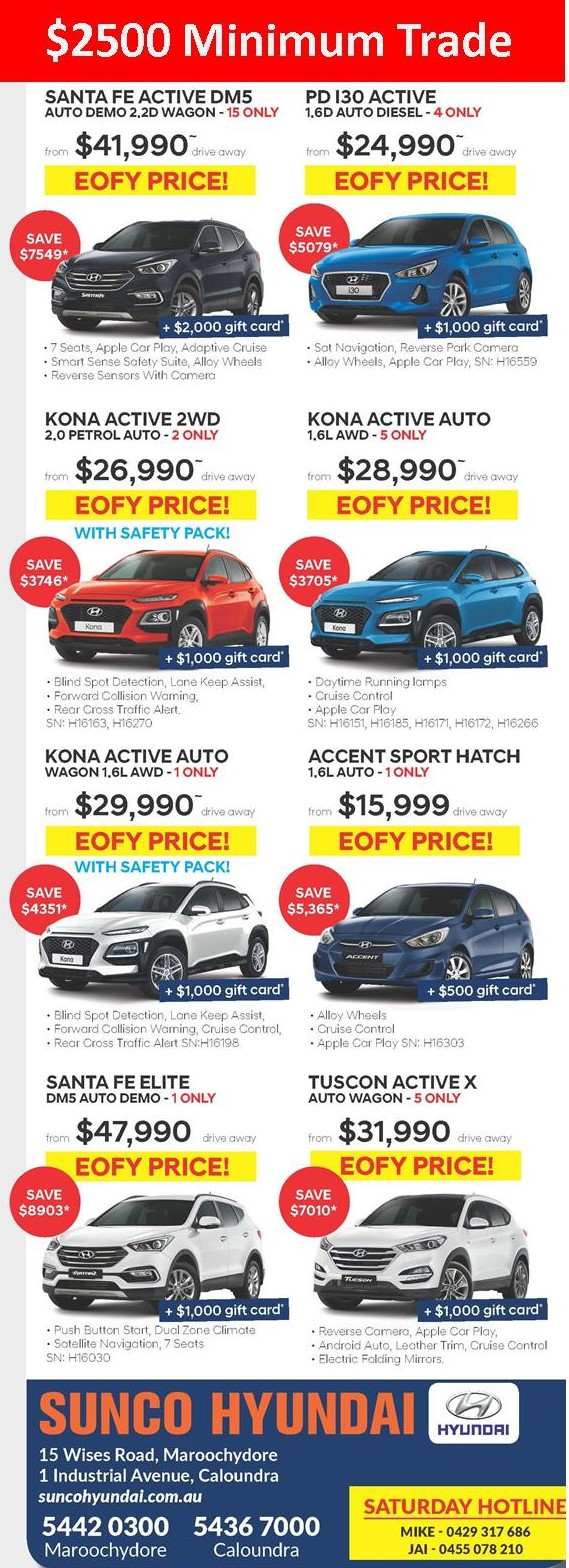 Sunco Hyundai EOFY Offers
