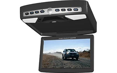 "<img src=""10.2"" Overhead monitor with built in DVD player"