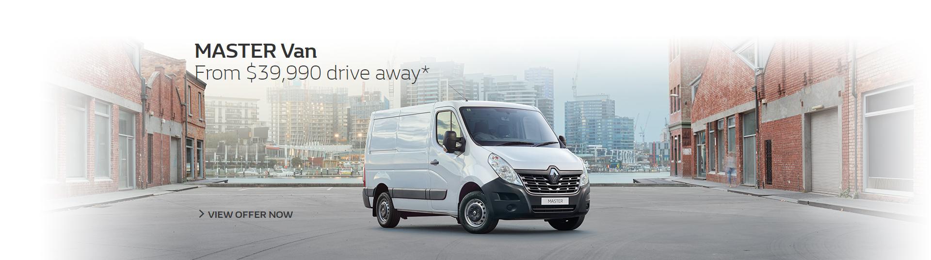 New Renault Master Van from $39,990 drive away at Metro Renault Brisbane.