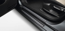 Door sill protection film, black