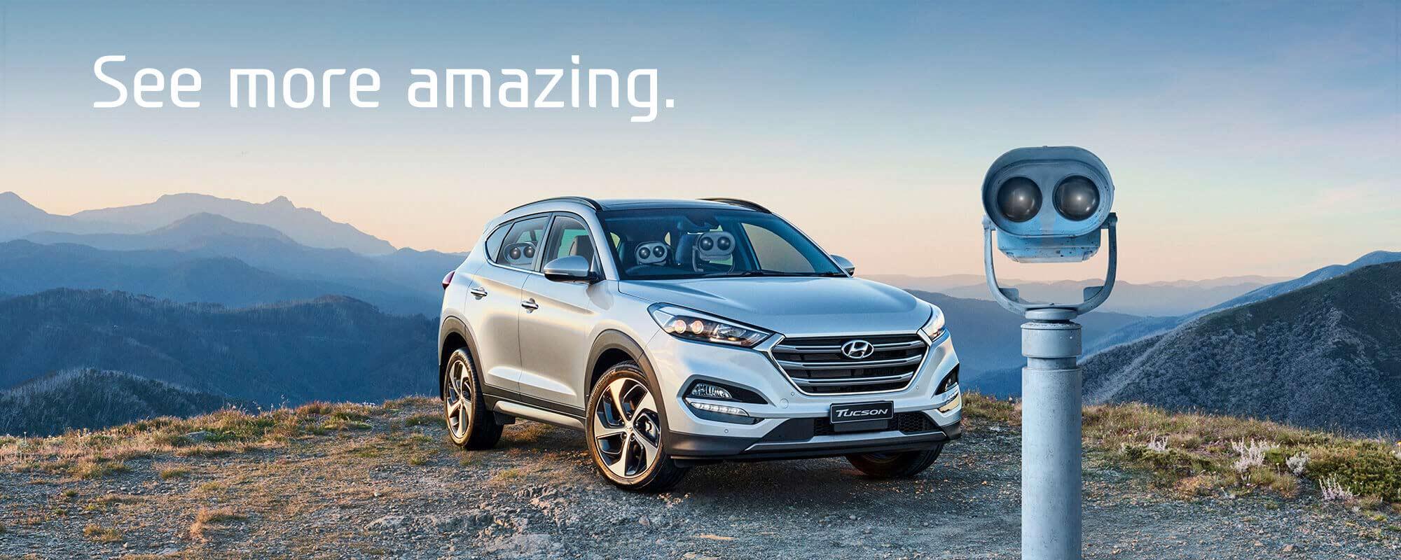 See more amazing with the all new Hyundai Tucson at Metro Hyundai.