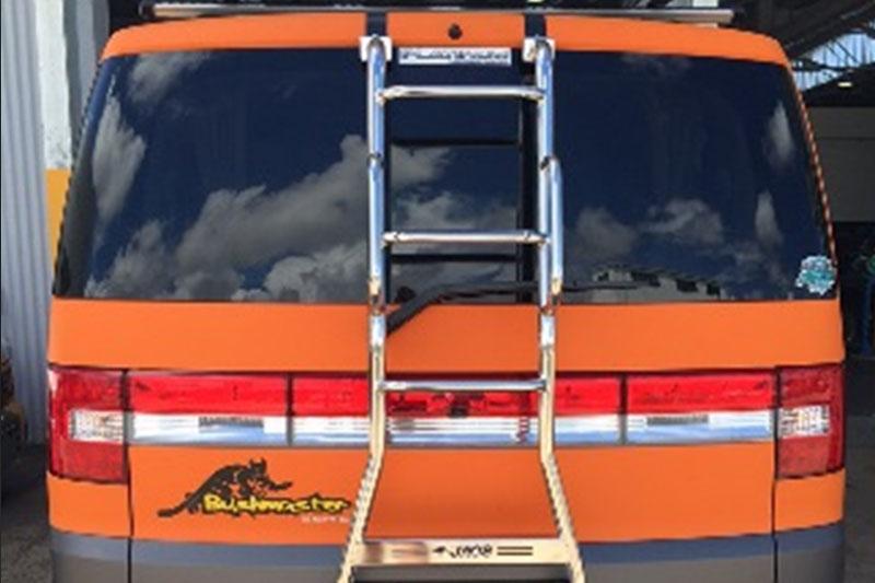 JAOS rear ladder with hand rails