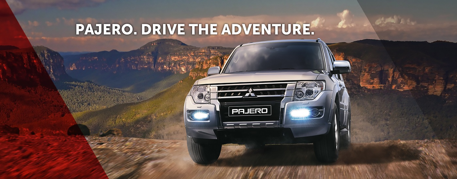 Explore off-road in the Mitsubishi Pajero 4x4. Drive the adventure at Nundah Mitsubishi Brisbane.
