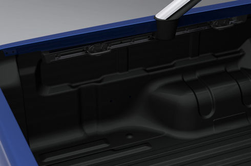 Bedliner cargo management rails - with external tie downs