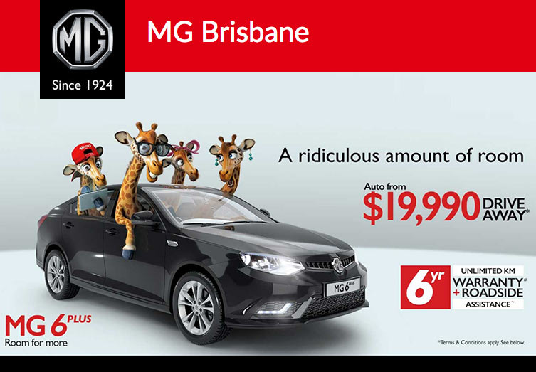 Brisbane MG 6Plus Offer $19,990 Drive Away