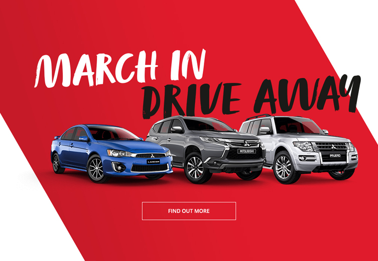March in and drive away in a new Mitsubishi this month at Norris Motor Group Brisbane.