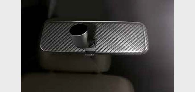Interior mirror in carbon look