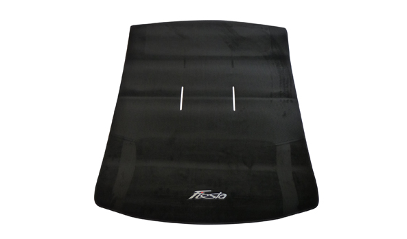 Foldable luggage compartment mat