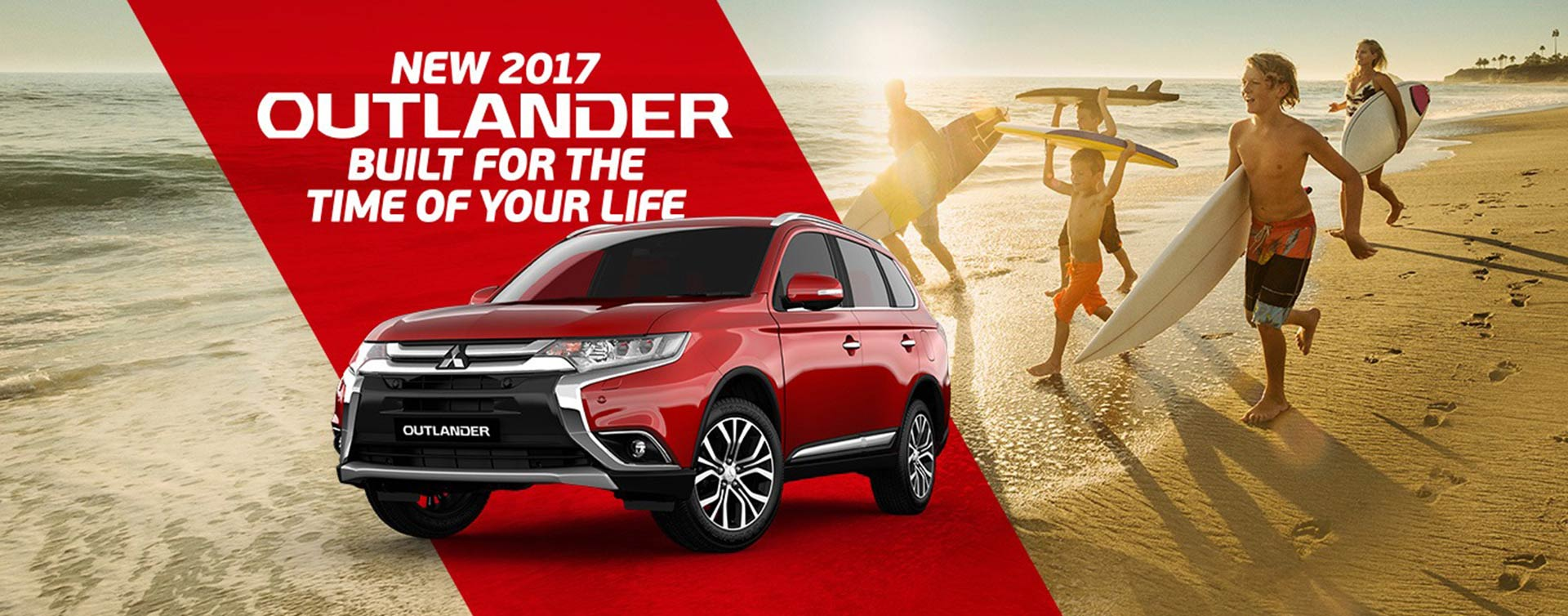 New 2017 Mitsubishi Outlander, built for the time of your life. Available at Redcliffe Mitsubishi, Brisbane.