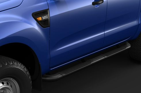 Side Steps Double Cab - Double Step Mild SteelBlack