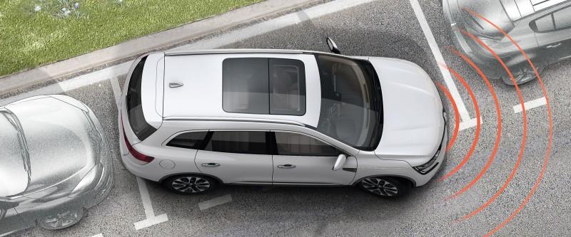 Koleos Front and rear parking sensors