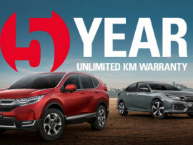 Hunter Honda announces upgraded warranty across all new cars