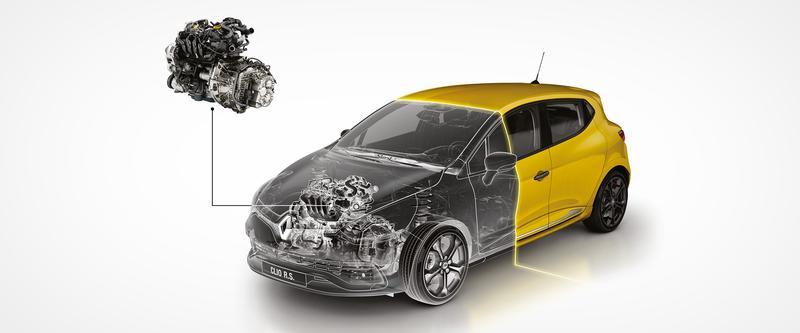 Clio R.S. 200hp turbo petrol engine