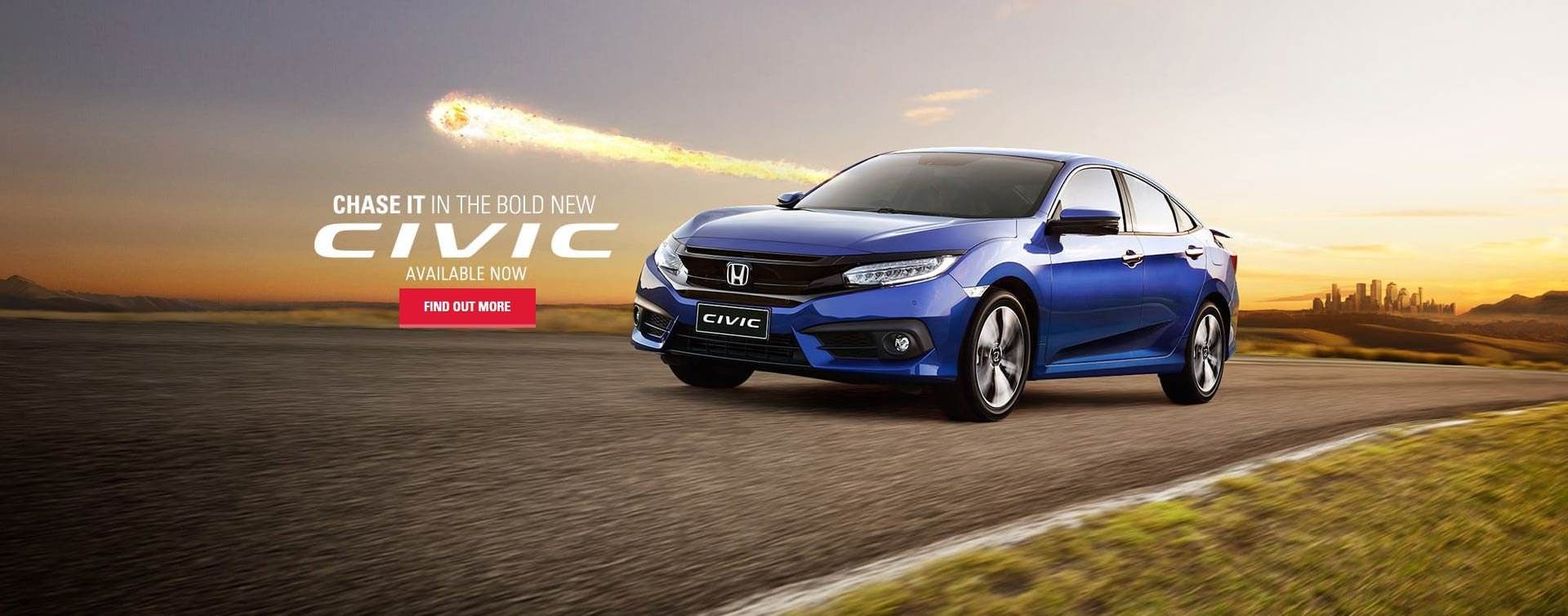 Chase it in the bold new Civic Sedan, available now at Northside Honda Brisbane.
