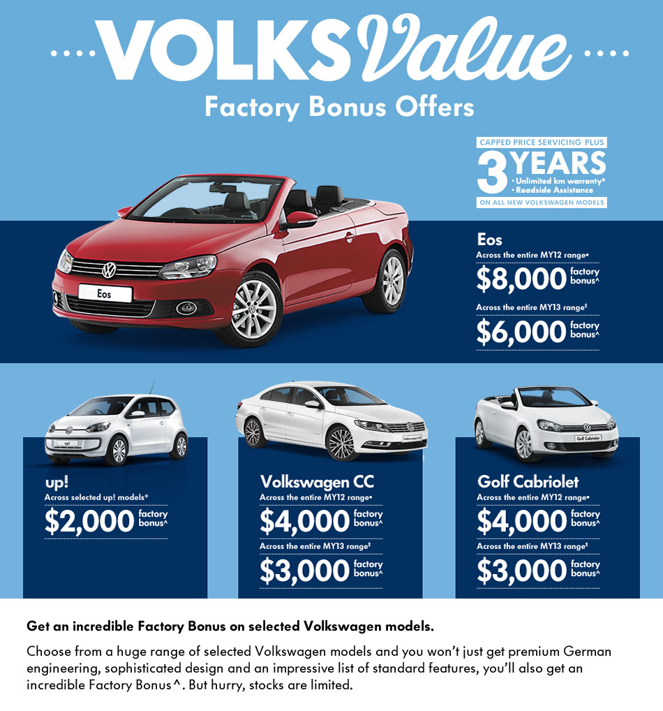 Volks Value Factory Bonus