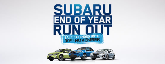 Subaru End of Year Run Out