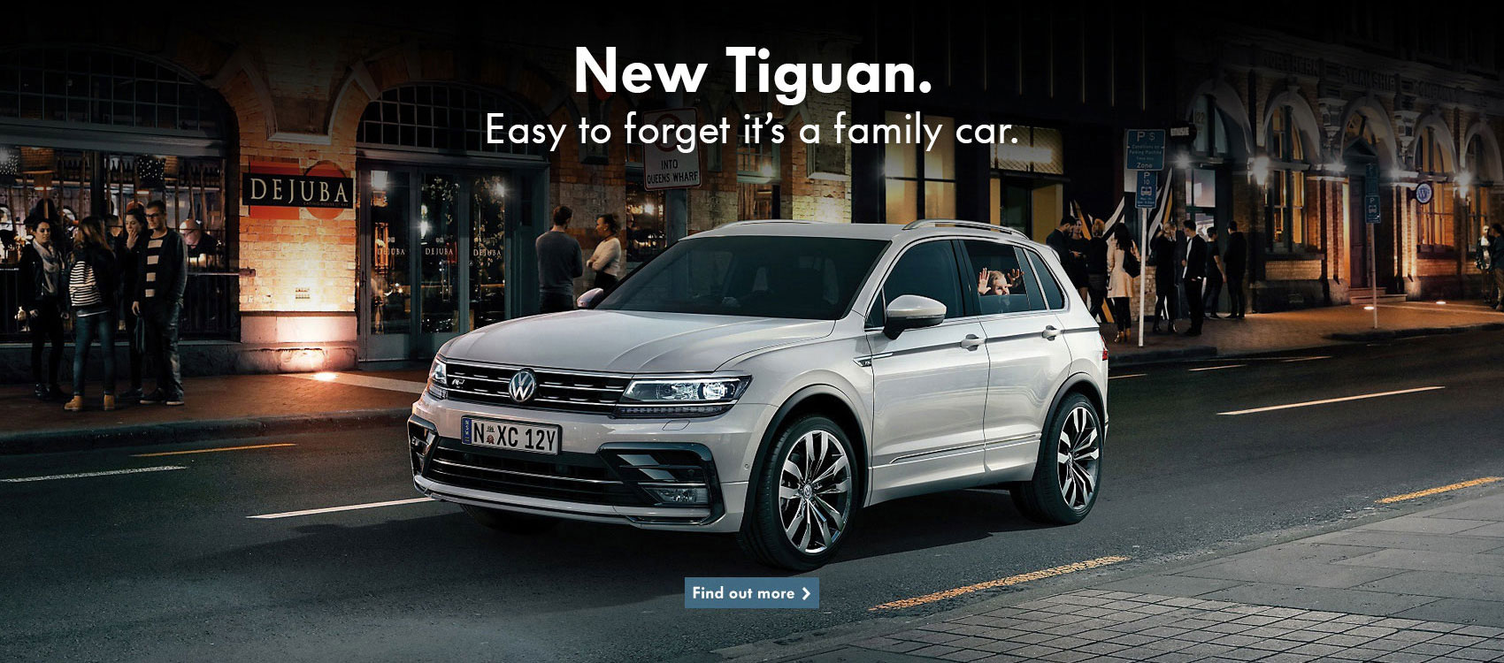 New Volkswagen Tiguan, easy to forget it's a family car. Available at NMG VW, your local Brisbane dealer.