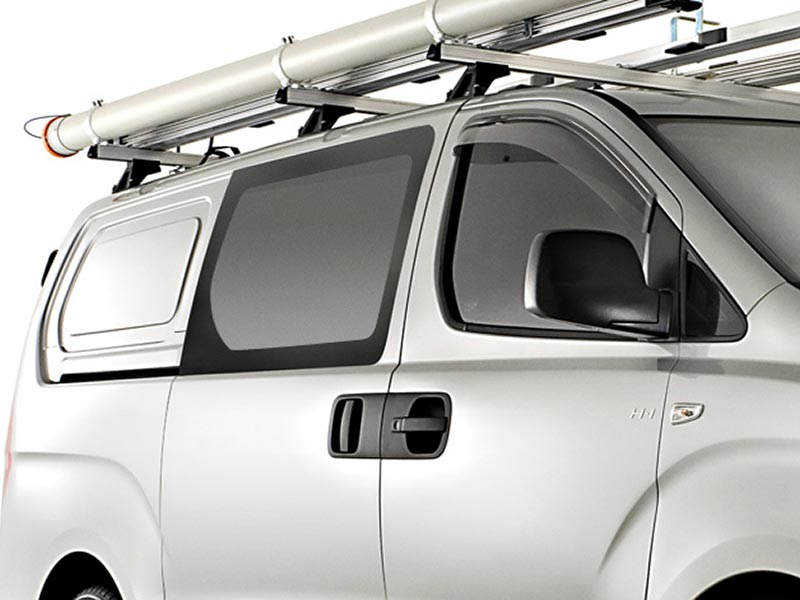 Sliding Door Windows & Rear Panel Windows Fixed - Sold Separately (Van Only)