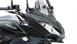 2017 Versys 650 Sharp, Sporty Styling