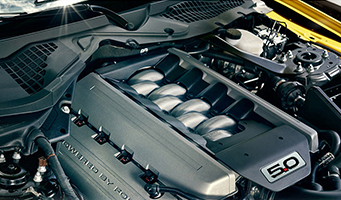 Mustang 5.0L Ti-VCT V8 and 2.3L EcoBoost I-4 engines
