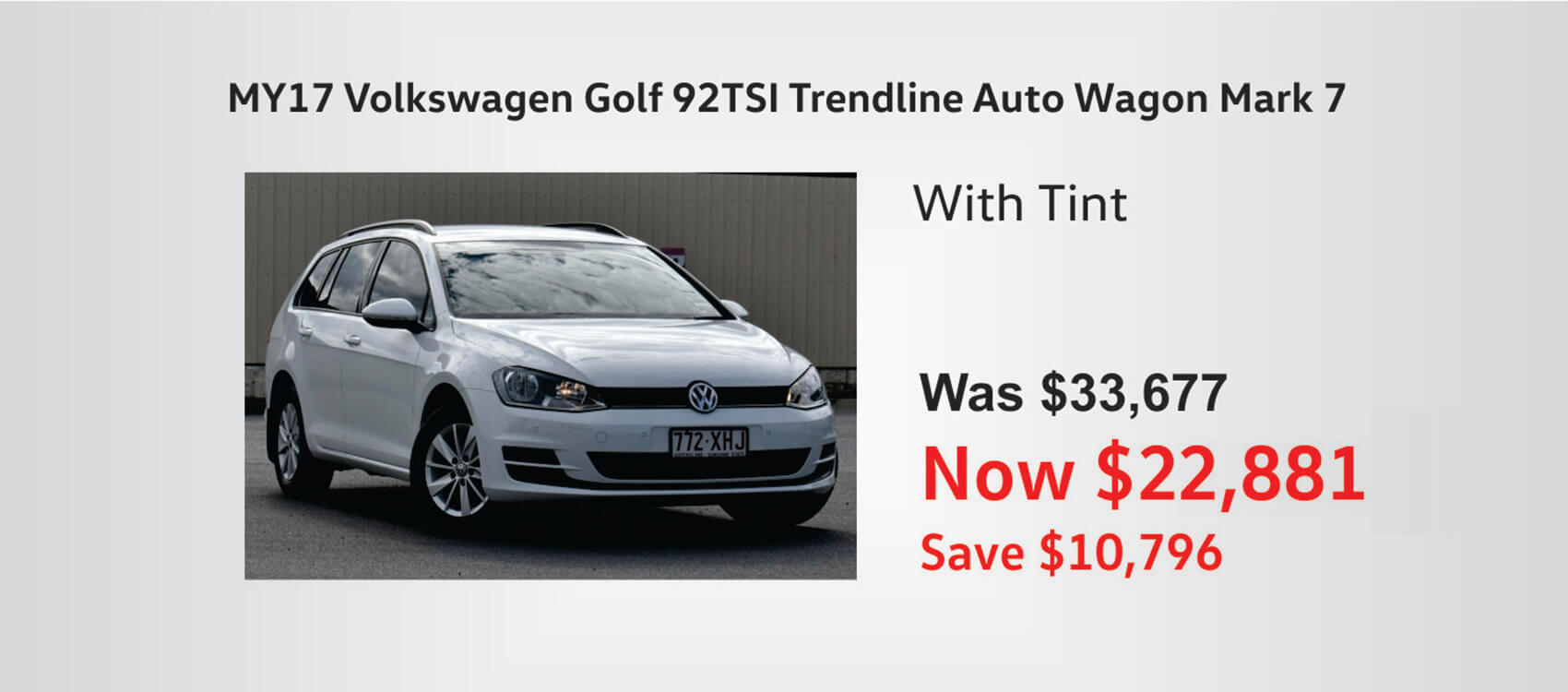 Grab a great deal on a white VW Golf Trendline Wagon