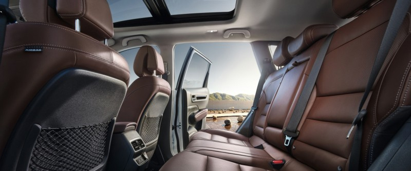 Koleos Class leading rear knee room