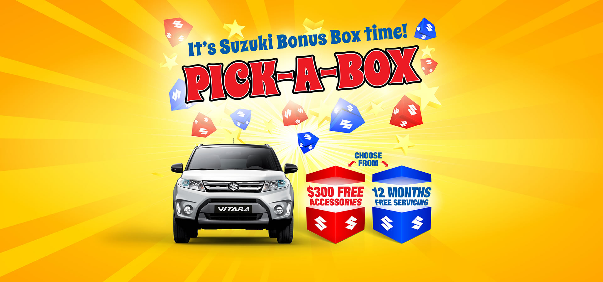 Suzuki Pick-a-box Offers